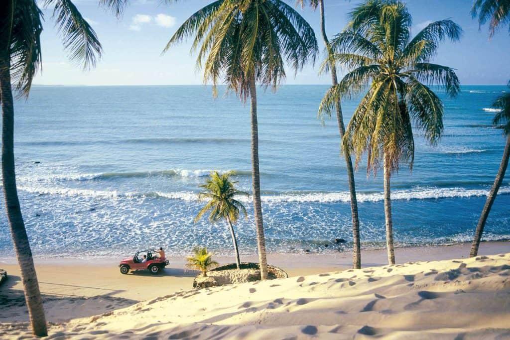 Oplev strand og palmer på rundrejsen
