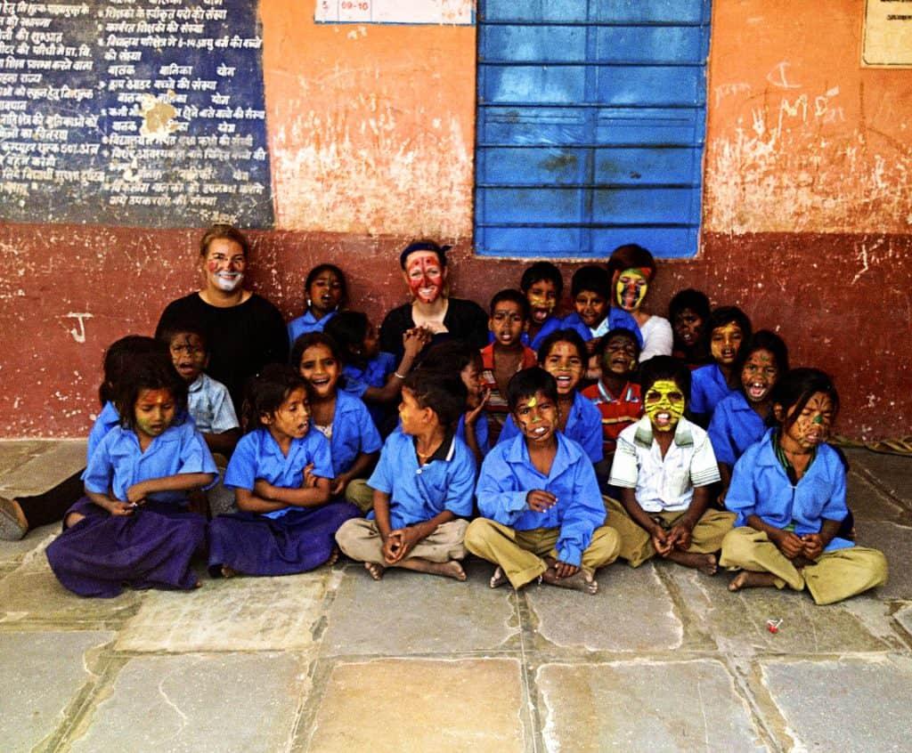 Frivilligt arbejde rejse i Indien