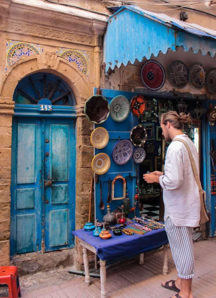 Køb souvenirs i Marokko