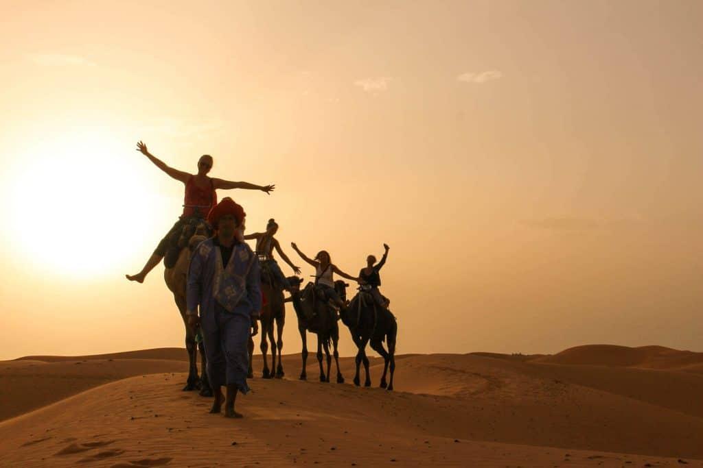 Kamelvandring i Marokko